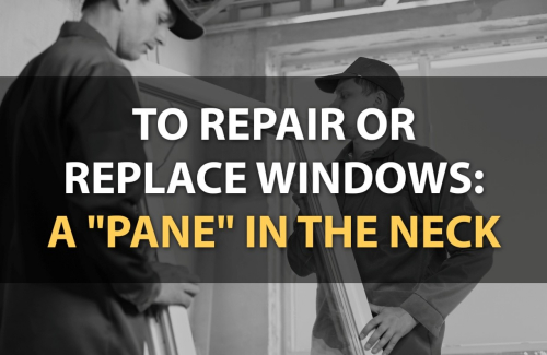 to repair or replace windows 1