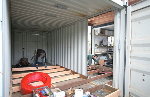 Container Garage shipping container garage conversion the proper way to do it kravelv