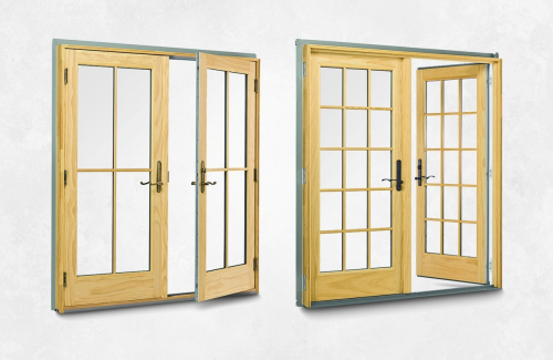 Pin hinged patio door french on pinterest for Single swing patio door