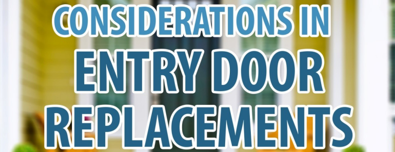 considerations in entry door replacements