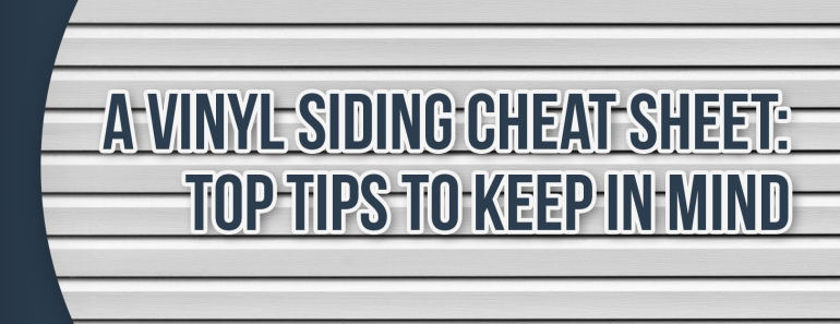 Vinyl Siding Cheat Sheet