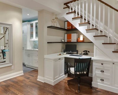 Make use of the area under the stairways