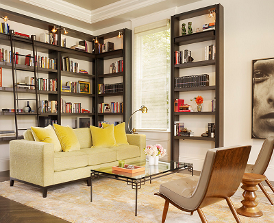 Modifying the living room into a library