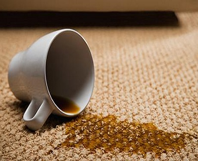 how to clean a carpet - coffee stain