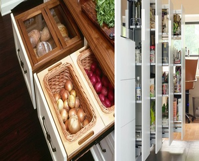 emerging kitchen designs - Slender Pullouts