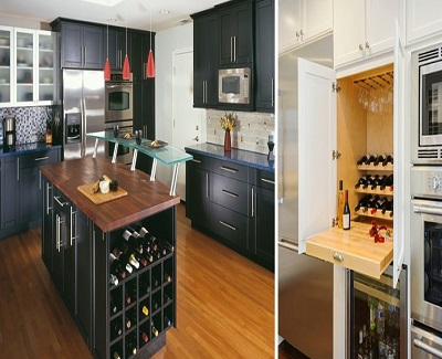 emerging kitchen designs -Wine Lover Storage