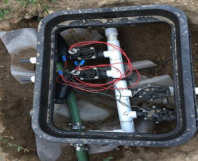 how to install sprinklers - connecting the wires