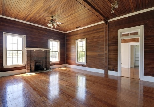 with routine maintenance and proper cleaning varnishing and staining wooden panels can last for at least a decade - Wood Paneling With Wood Floor
