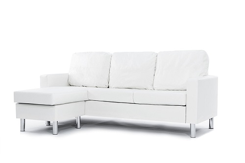 Small Spaces Configurable Sectional Sofa - Modern Bonded Leather Sectional Sofa