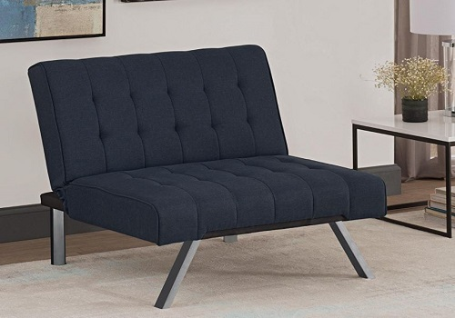 modern loveseat for small spaces - DHP Emily Accent Chair with Split-Back