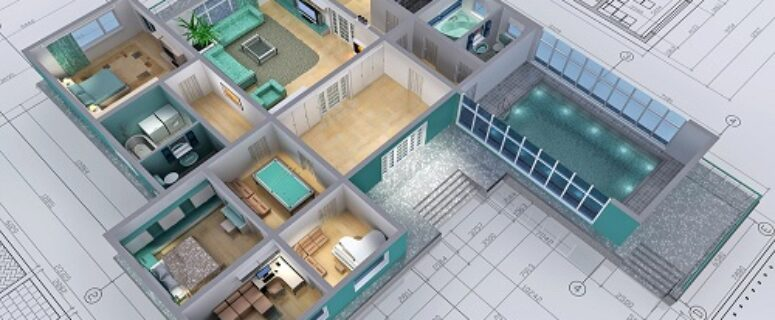 residential house in 3d