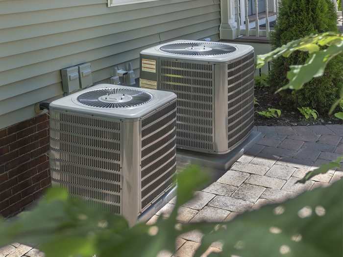 hvac unit outside a residential home