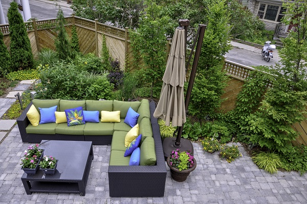 hardscaping outdoor rooms in yard