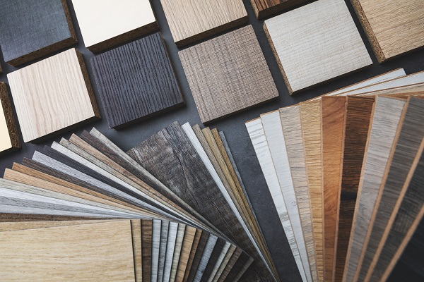 variety of wood texture furniture and flooring material samples