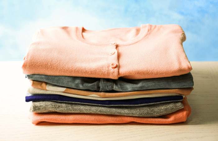 clean folded clothes