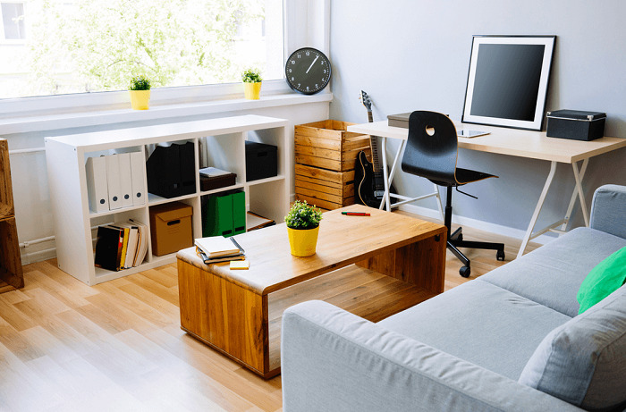 small living room with modern interior