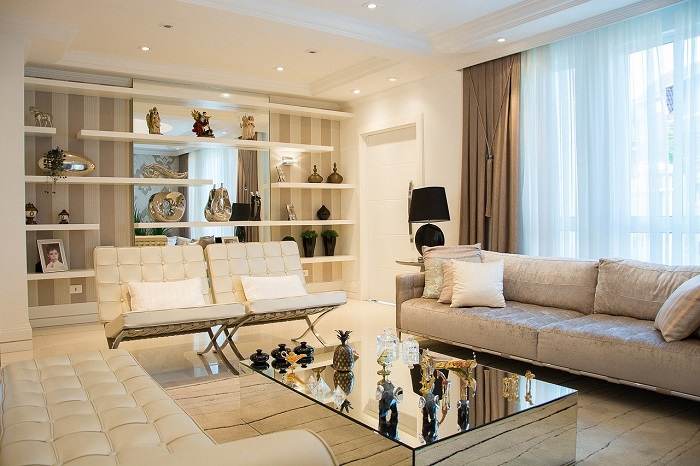 sofa with modern furnitures